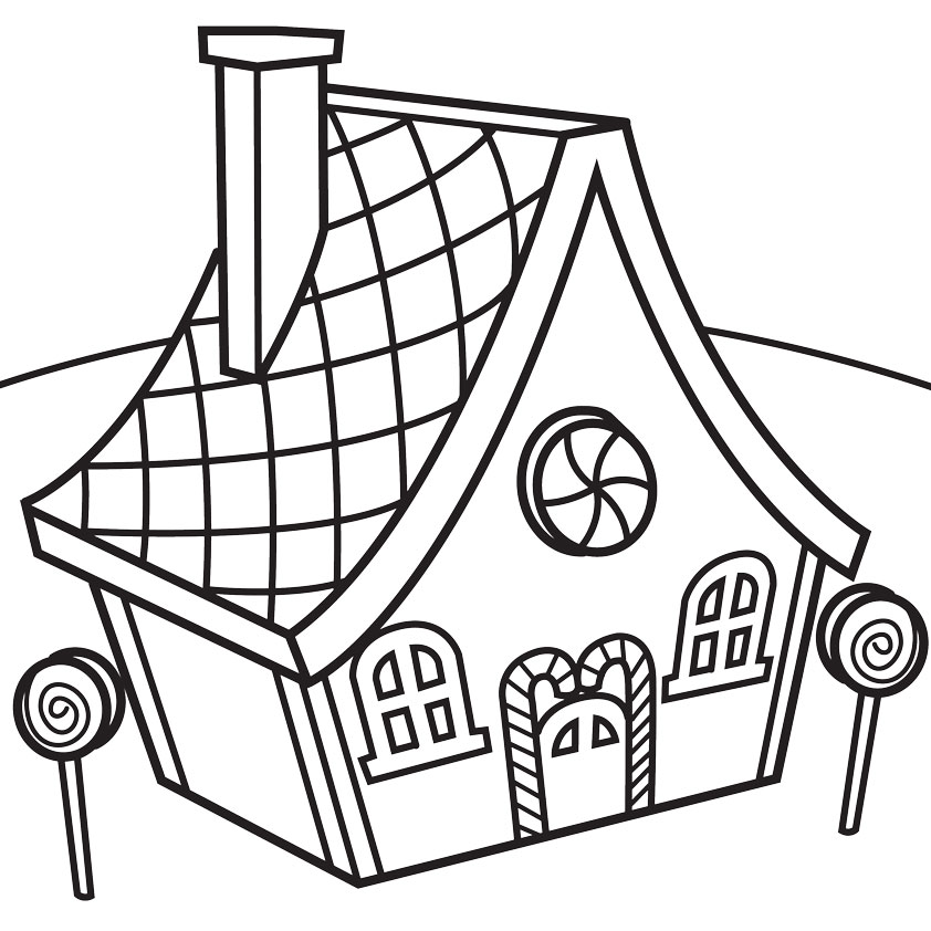 Line Art Images Of Houses : Line drawing of house clipart best