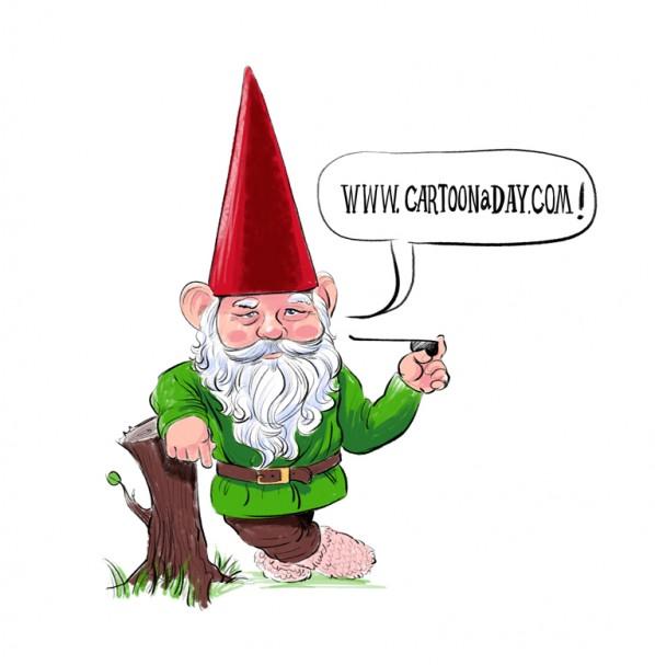free garden gnome clipart - photo #37