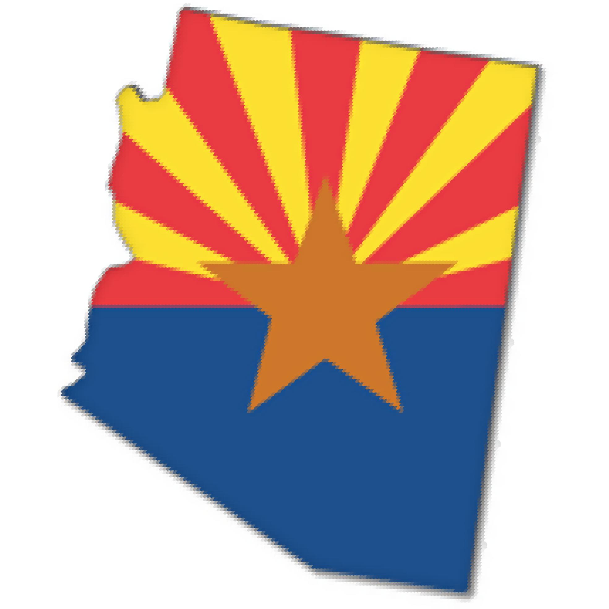 Flag Map of Arizona Drapeau Bandiera Bandeira Flagga flagartist ...