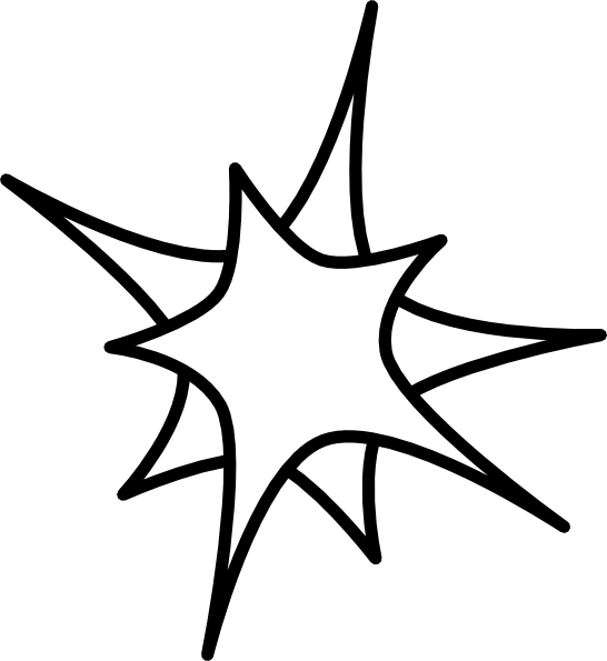 Star Outline Drawing Double Star Clip Art Vector