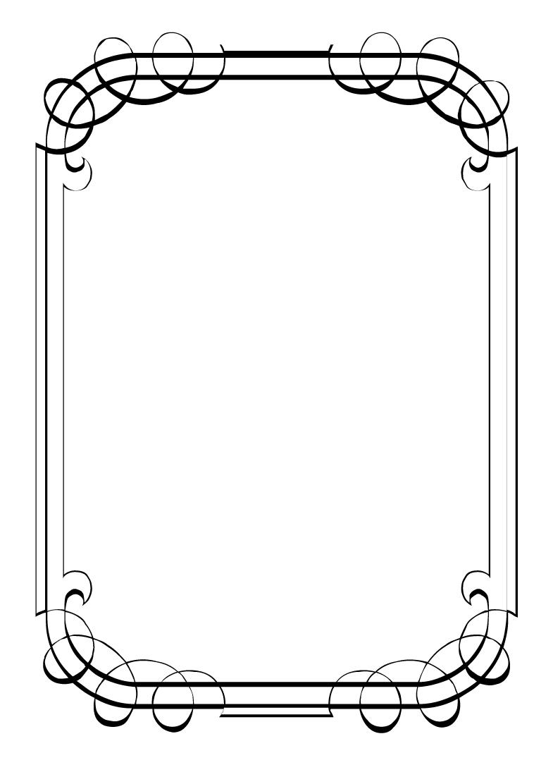 Line Art Frames : Line borders and frames clipart best