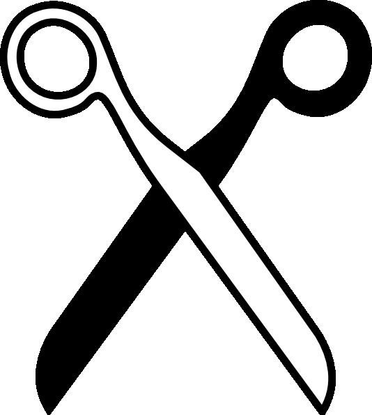 Scissors Black & White clip art - vector clip art online, royalty ...