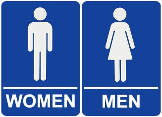Male Female Bathroom Signs ClipArt Best