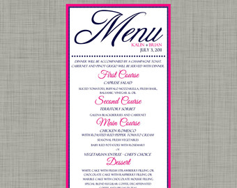Wedding Menu Template Free Download - ClipArt Best