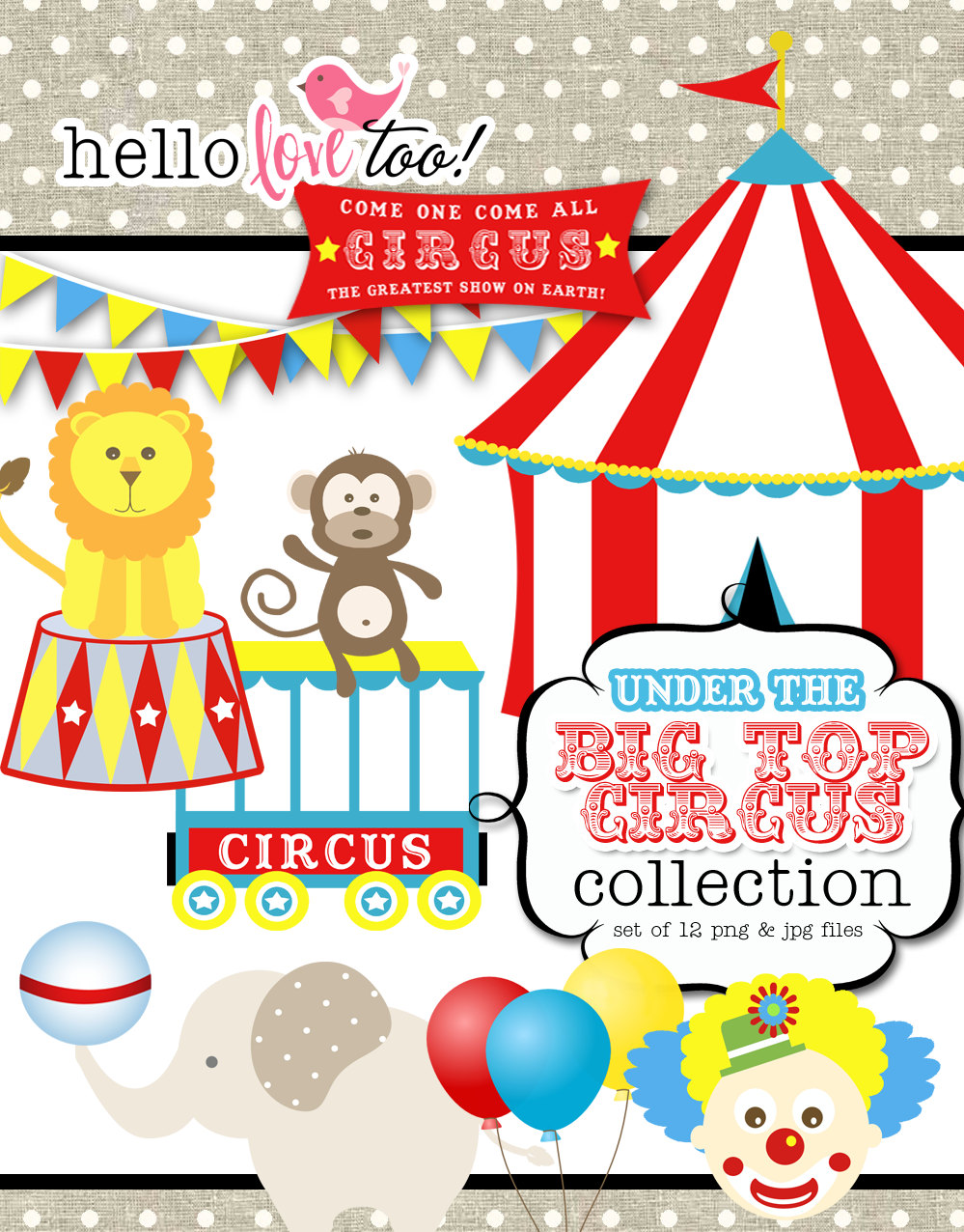 Circus printables clipart best for Circus printables