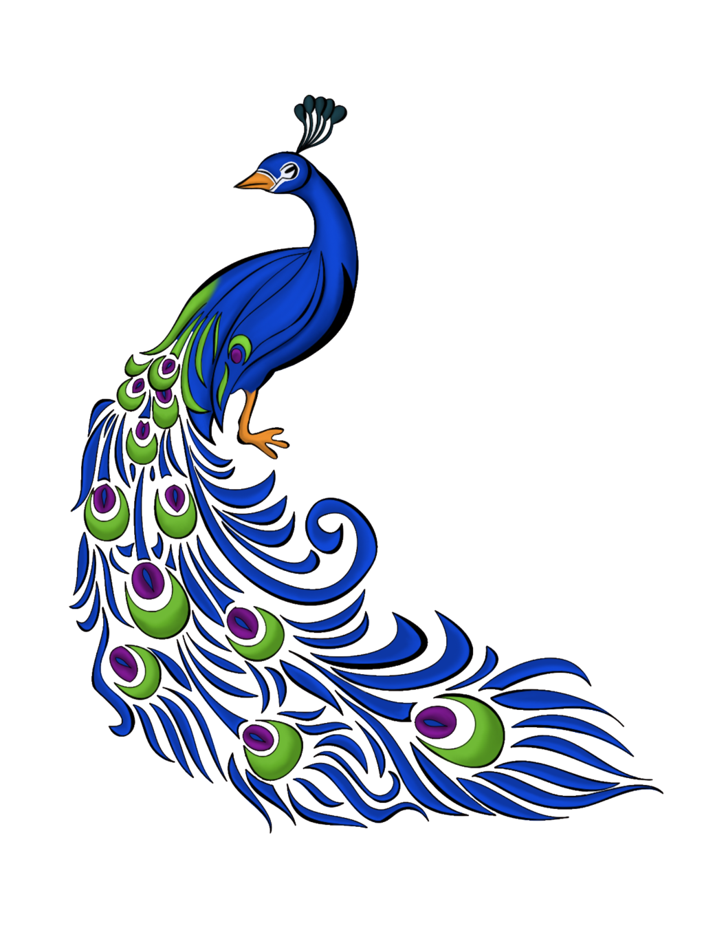Peacock Feather Vector Free Graphics And Art Clipart