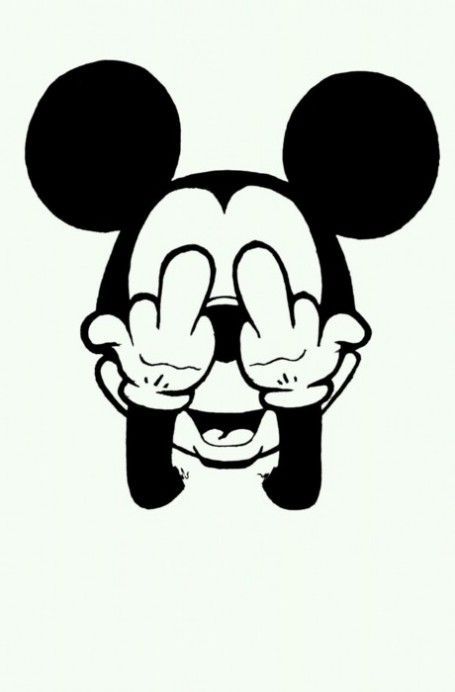 Mickey Mouse Giving The Middle Finger Pictures By alexis delgado on his
