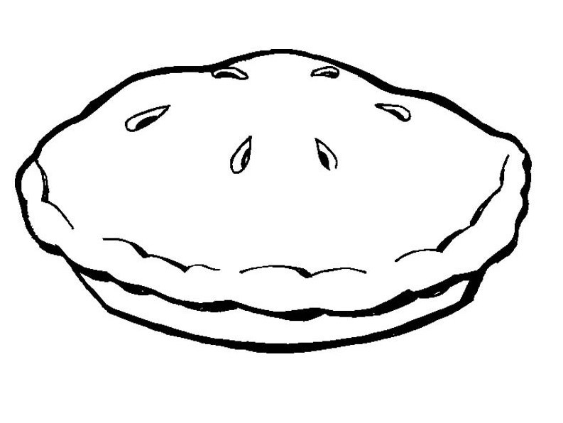 Pie Colouring Clipart Best