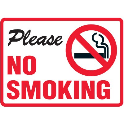sign no smoking print clipart best