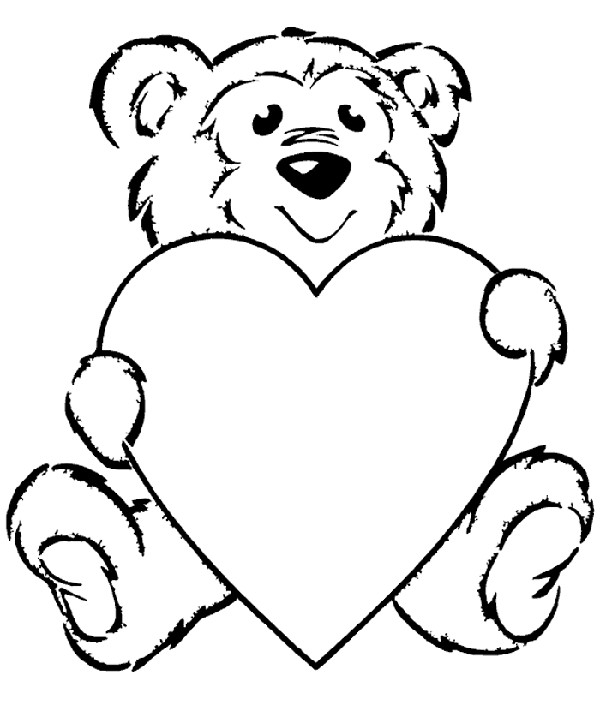 Colouring Pic Teddy Clipart Best Coloring Pages Teddy