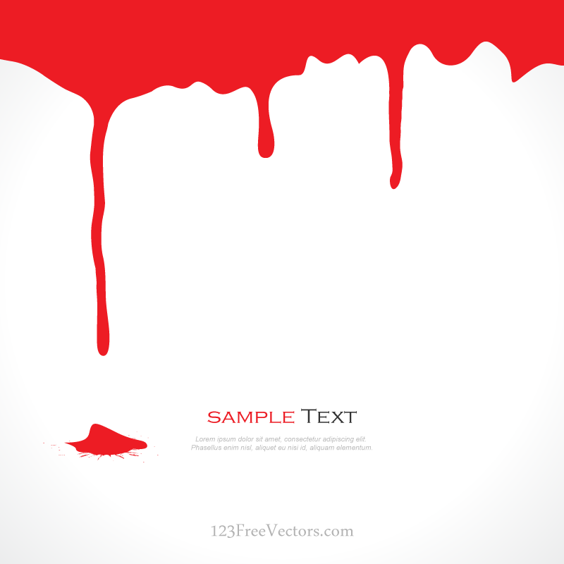 dripping blood clipart border free - photo #20