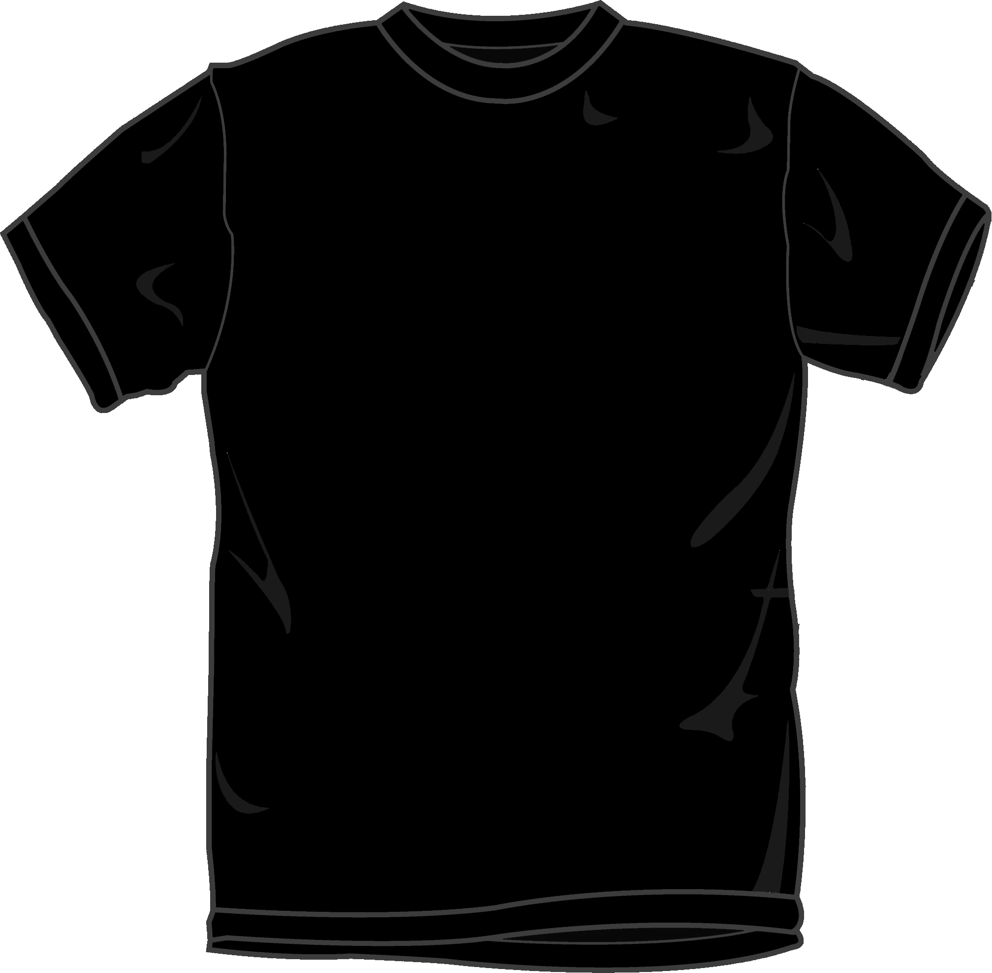 black t shirts template - photo #25