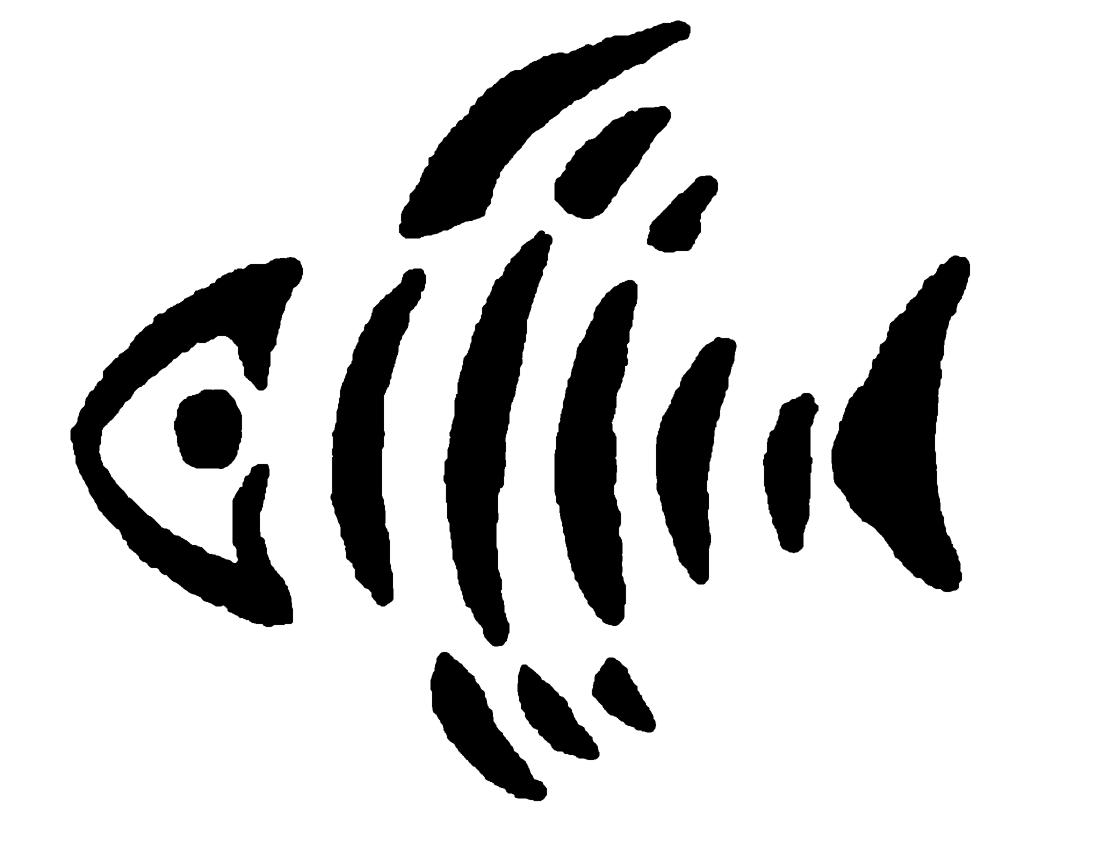 Fish stencil clipart best