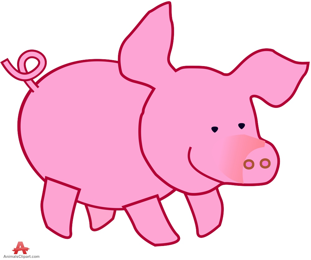 free clip art pink pig - photo #46