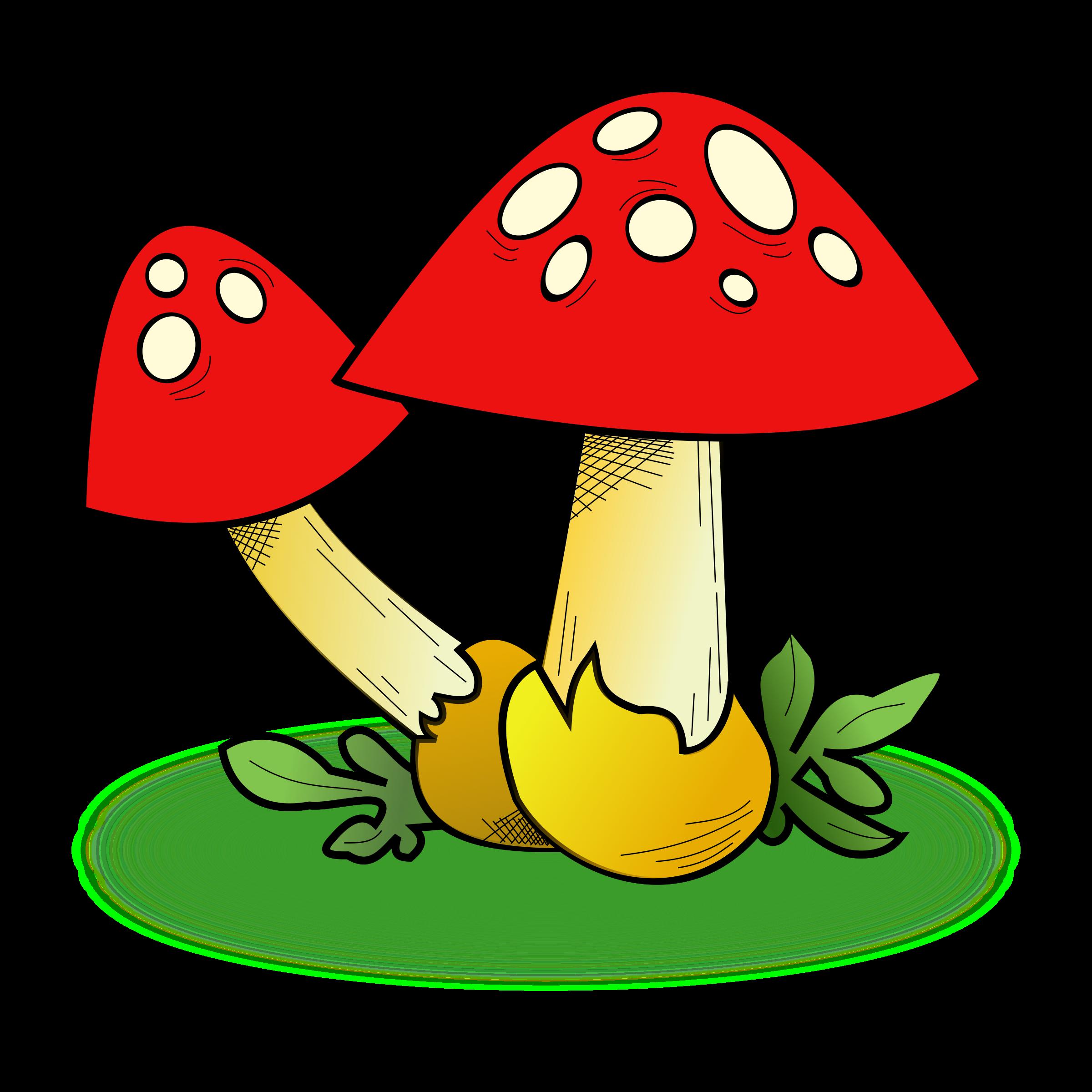Cute Houses Fungi Clipart Clipart Best