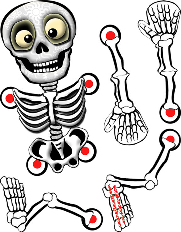 Influential image throughout printable skeleton template