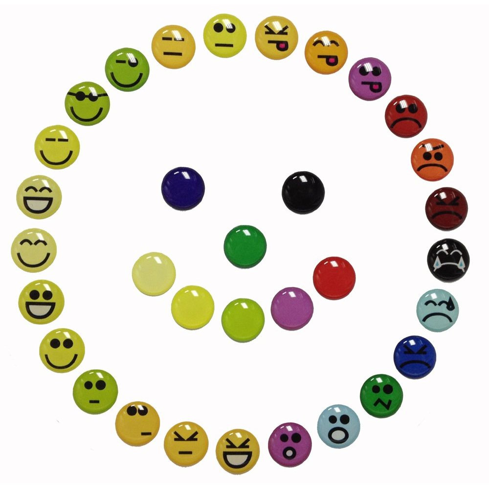 Emoticons Goofy Happy Angry Smiley Faces - 33 Pieces 3D Semi ...