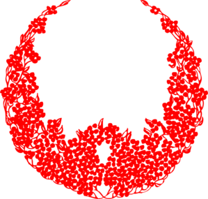 Red Wreath Christmas clip art - vector clip art online, royalty ...