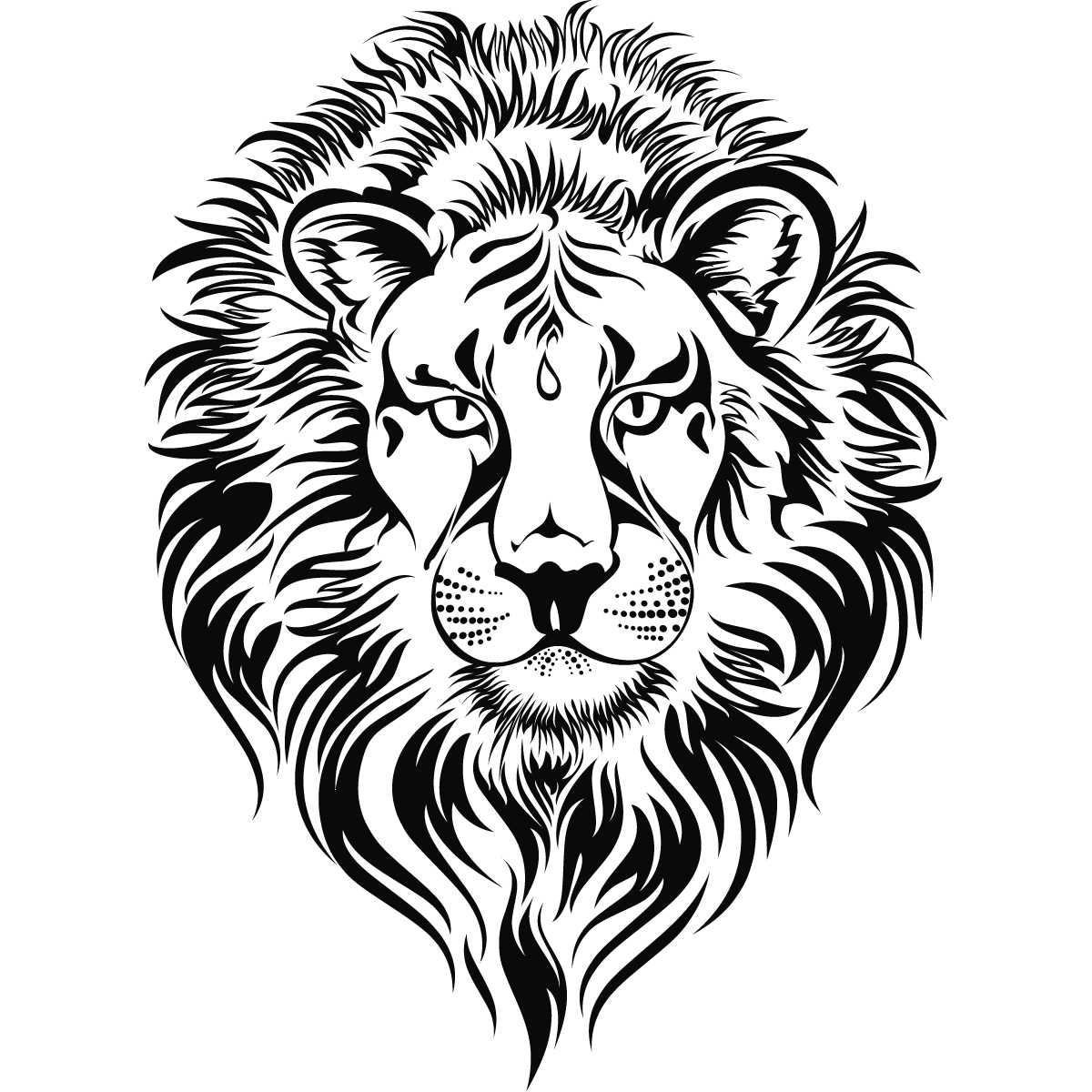 Lion Head Clipart Black And White - ClipArt Best