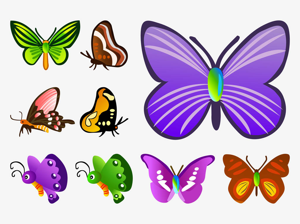 animated butterfly clipart free - photo #15
