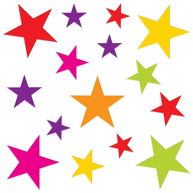 Gel Art Glitter Stars Window Decorations - Medium sized pack of 3D ...
