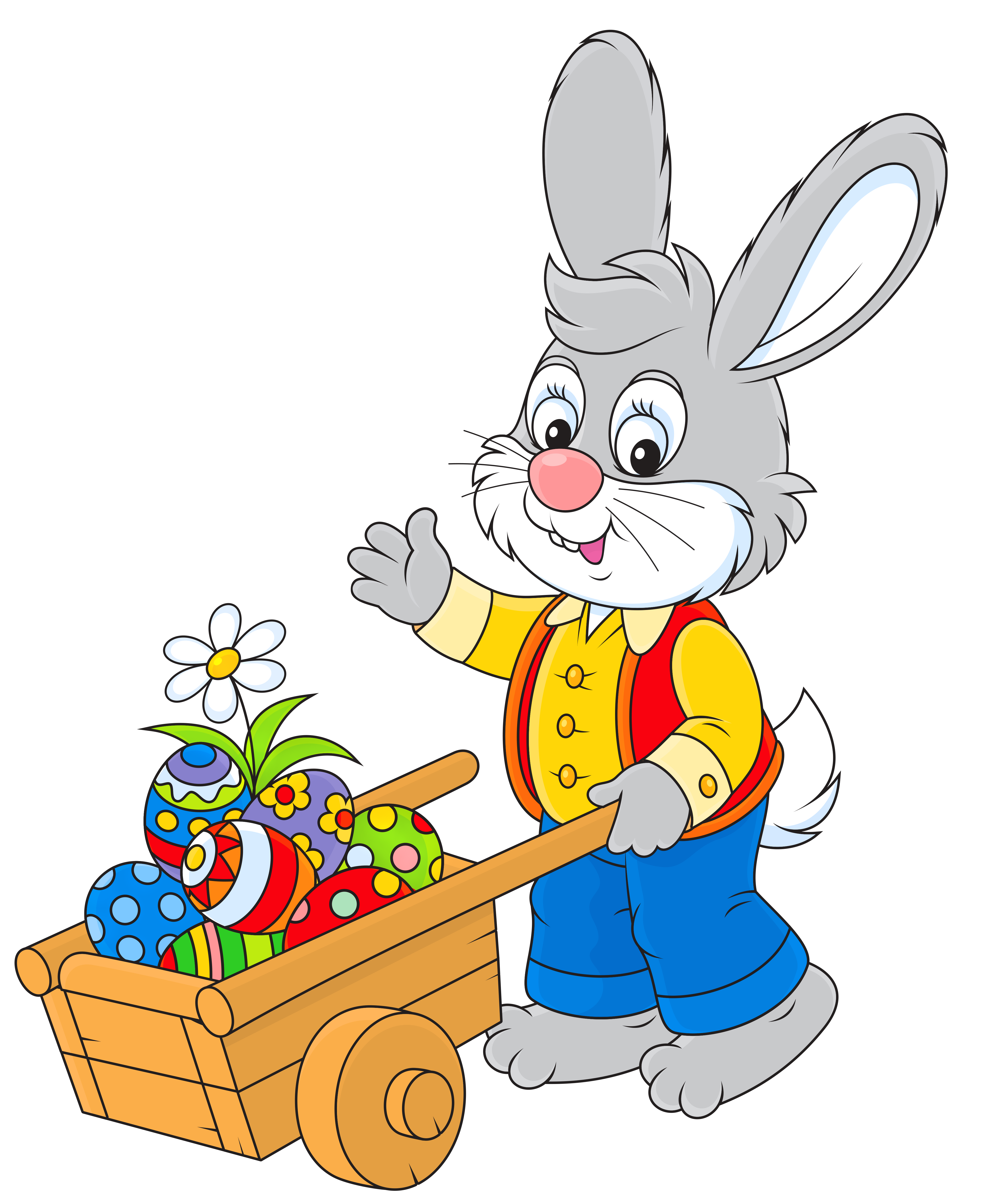 Happy Easter By Easter Bunny Clipart Best