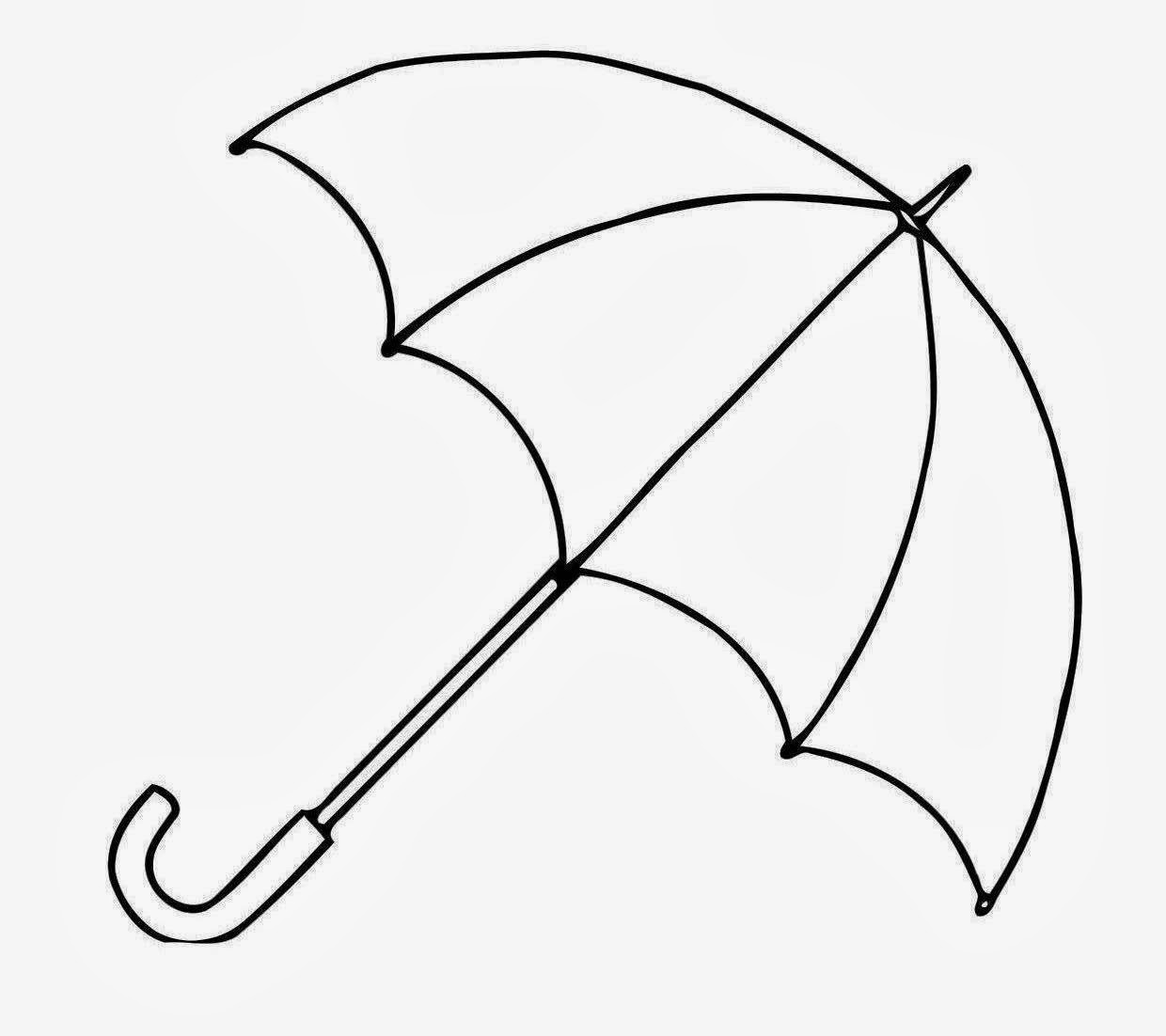 Cute Umbrella Drawing - Free Clipart Images