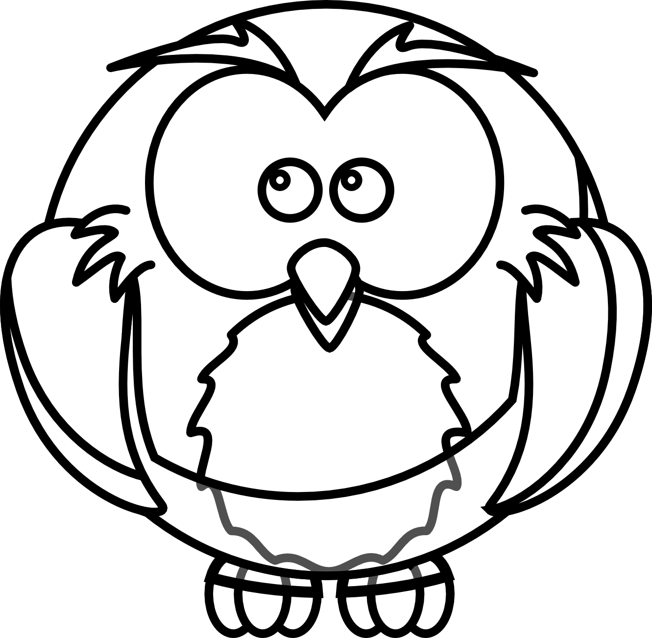 Wise Owl Clip Art Black And White Owl Clip Art Black And