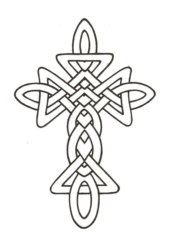 Line Art Cross : Celtic cross line drawing clipart best