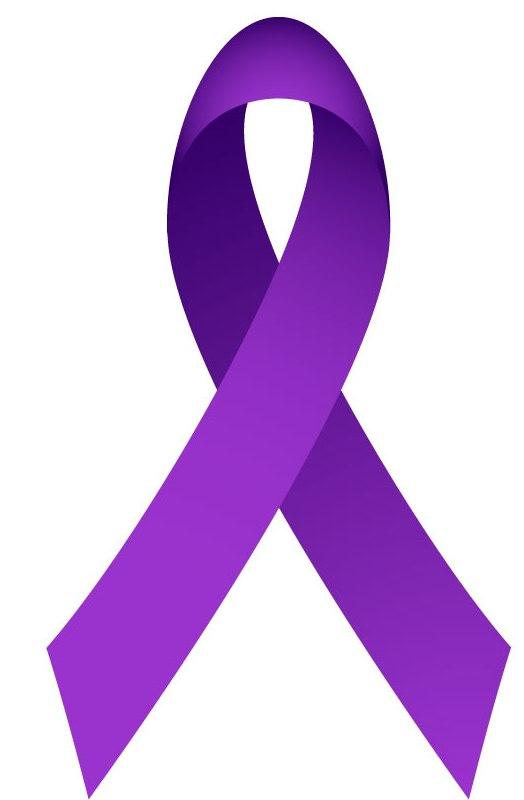 purple cancer ribbon clip art clipart best