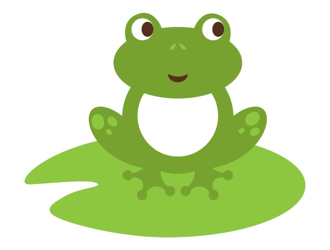 Pads Clipart Frog on Lily Pad Clipart