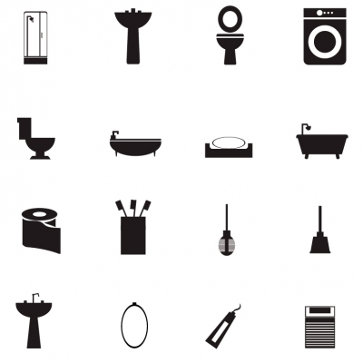 Bathroom Icons - ClipArt Best