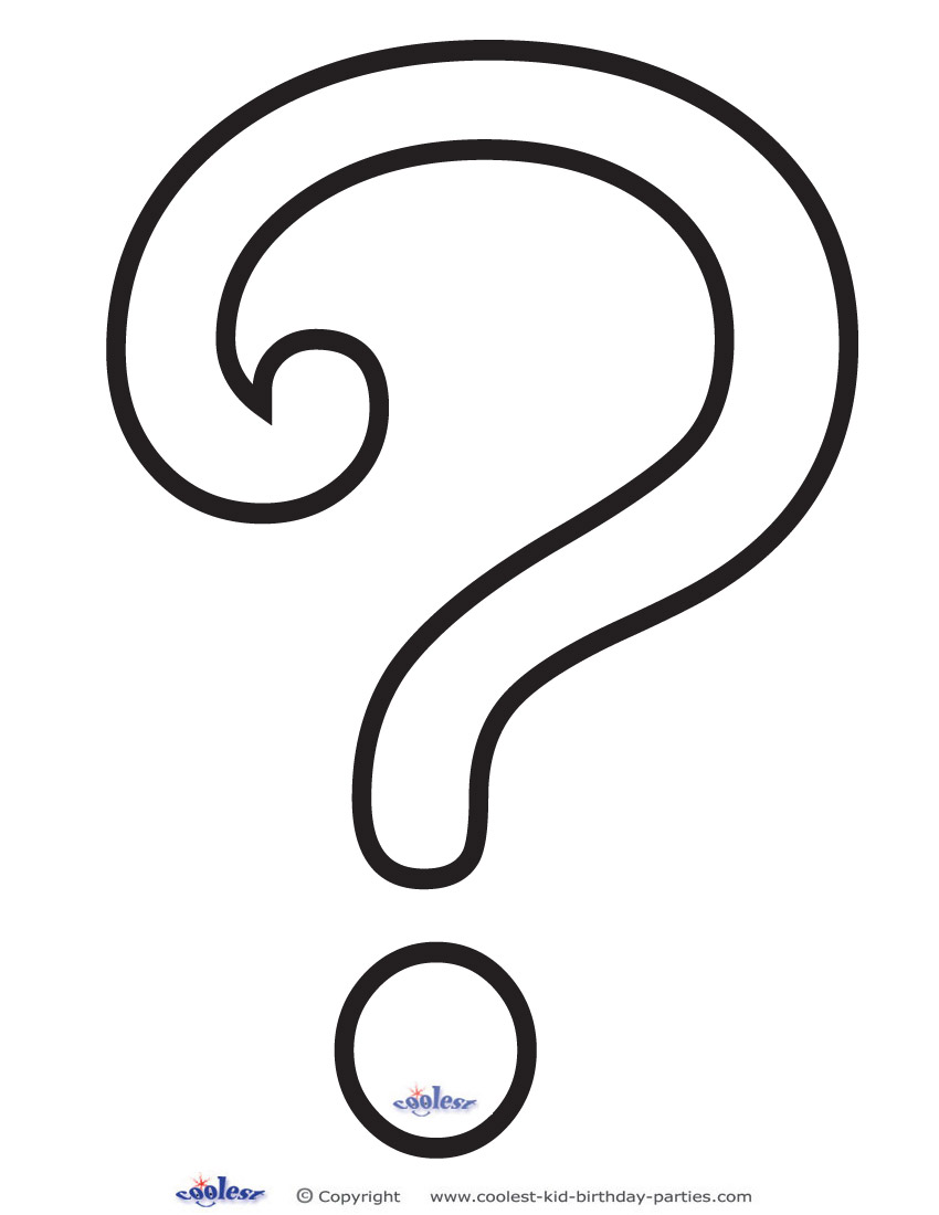 Coloring Pages Question Mark : Pictures of question marks printable clipart best