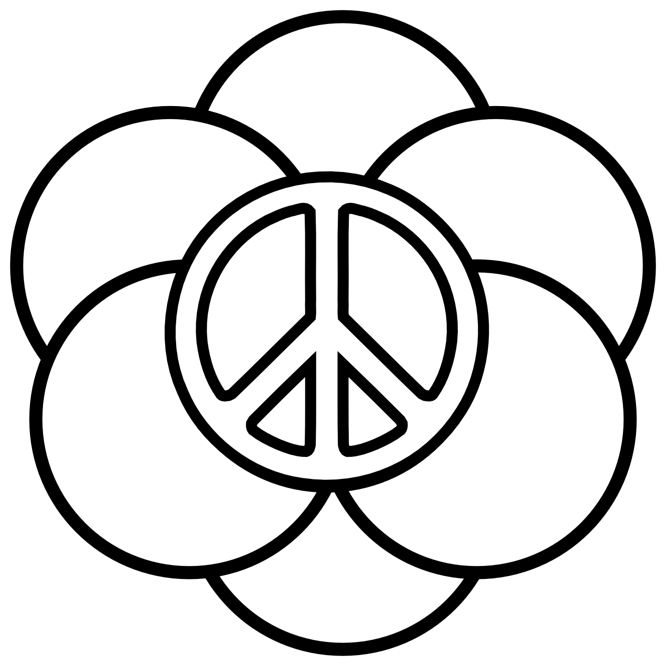 peacesign coloring pages - photo#10