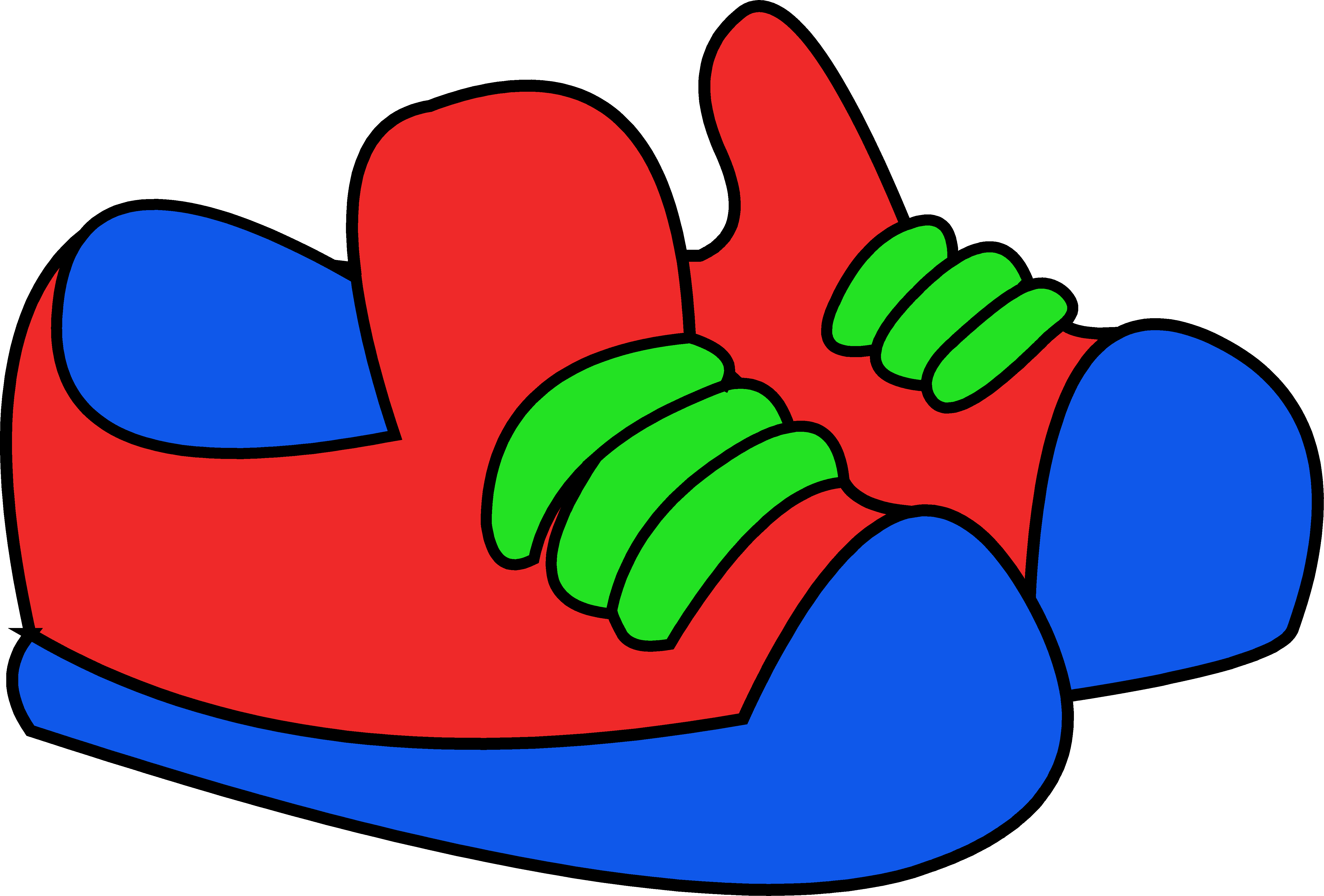 Picture Of A Cartoon Tennis Shoe