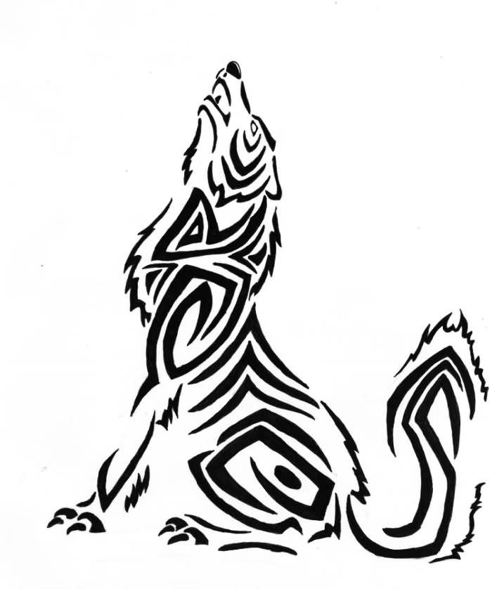 howling wolf designs clipart best. Black Bedroom Furniture Sets. Home Design Ideas