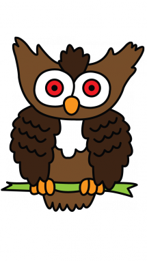 how to draw an easy owl step by step