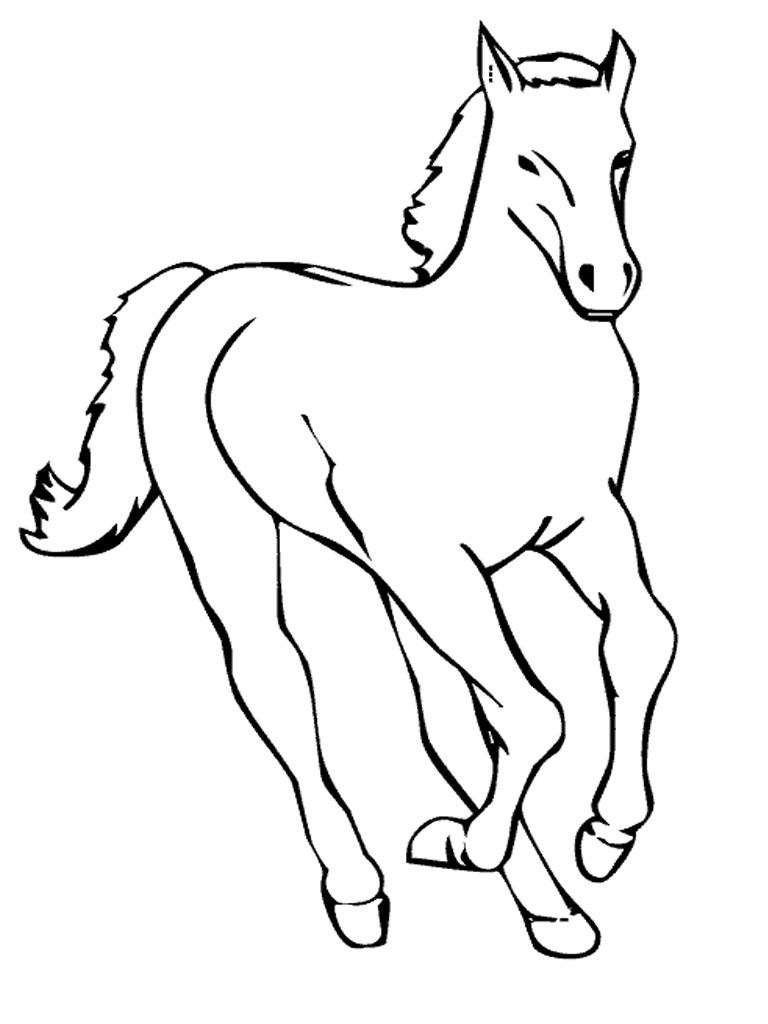 Free Printable Horse Coloring Pages For Kids - ClipArt ...