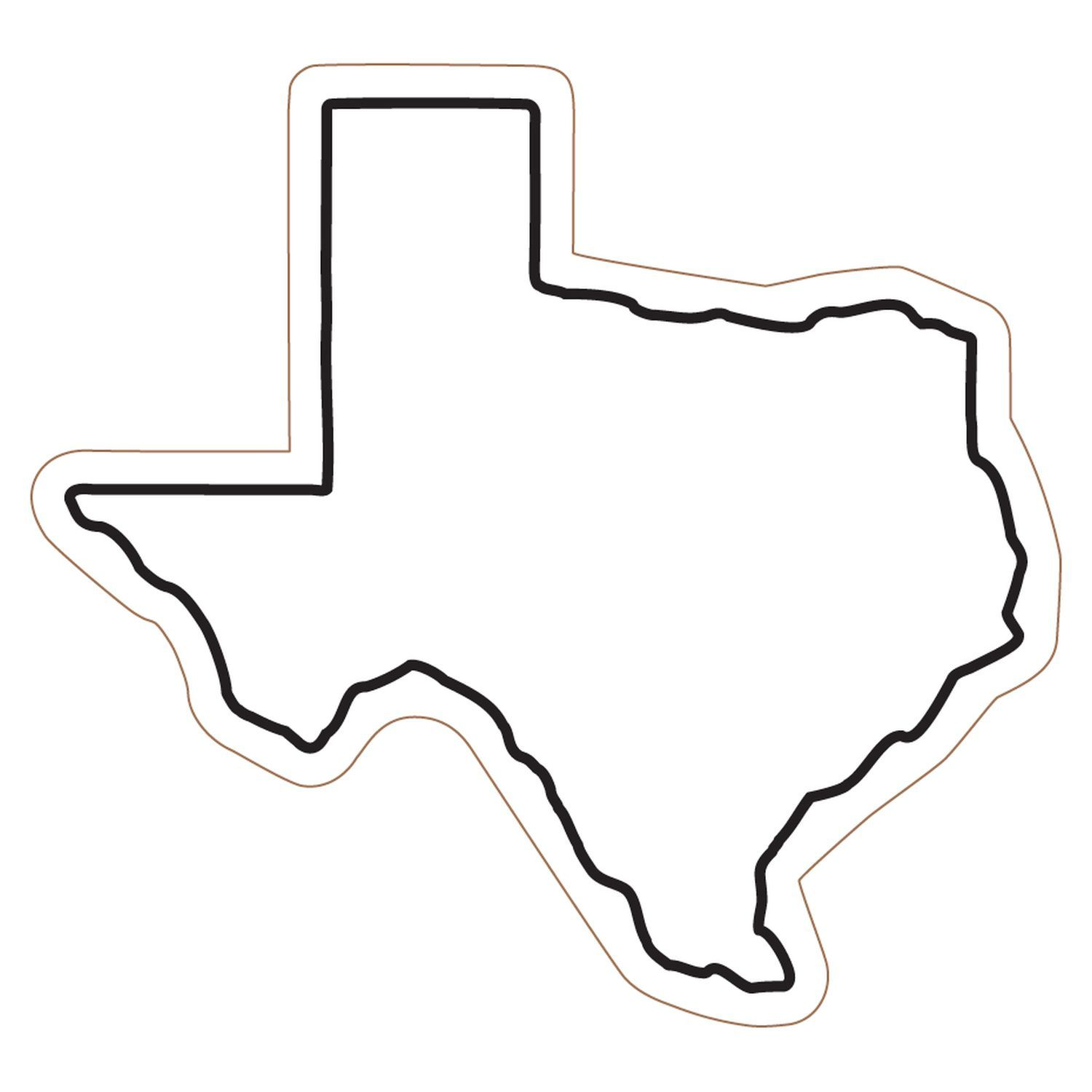 State of texas outline clip art