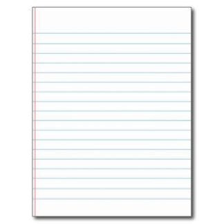 Blank Notebook Paper Printable - ClipArt Best