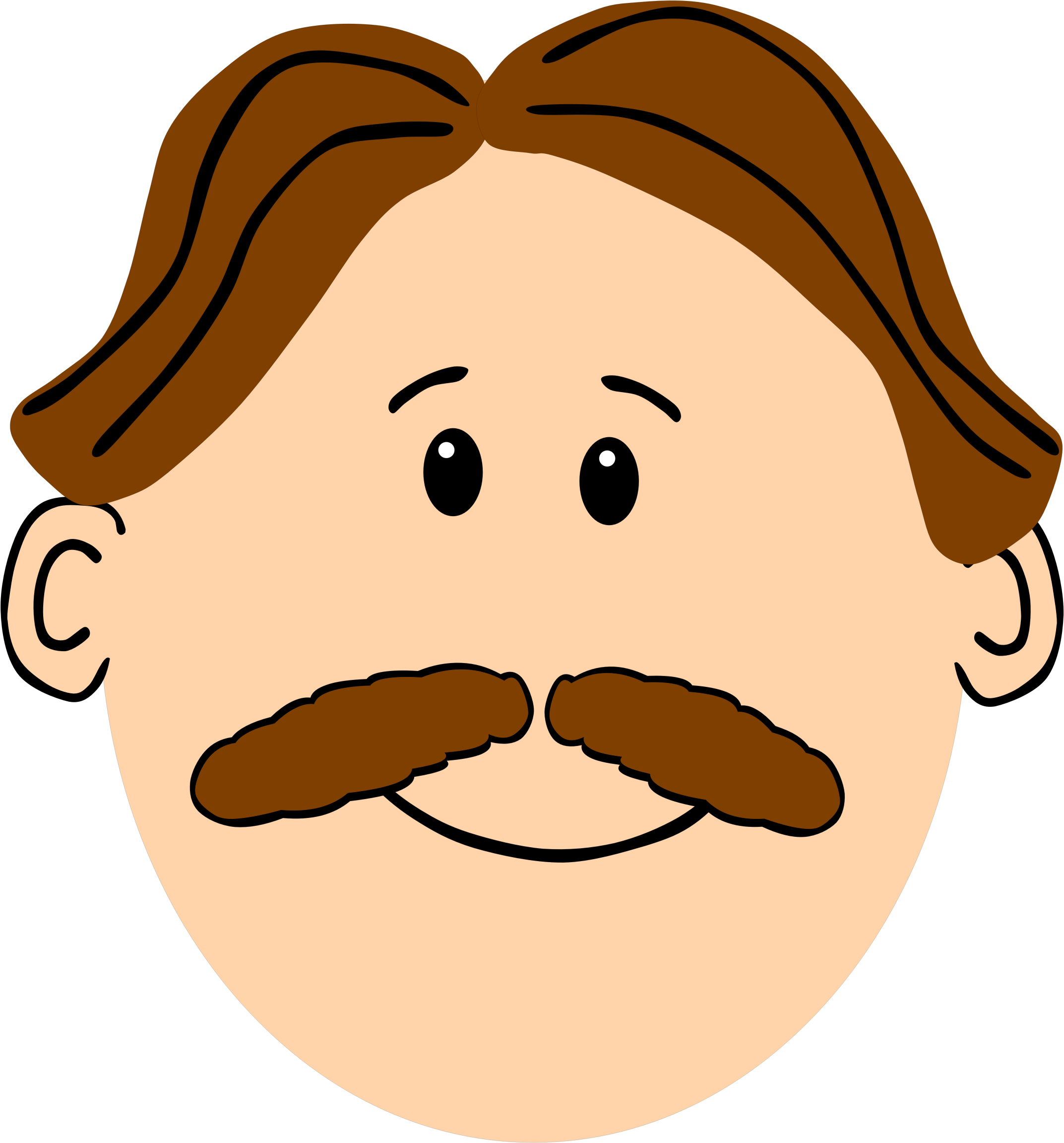 Cartoon Characters Yellow Hair : Brown mustache clipart best