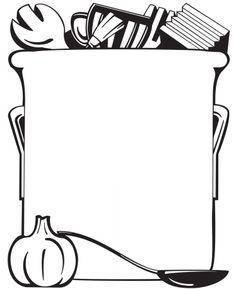 Cooking utensils border clip art