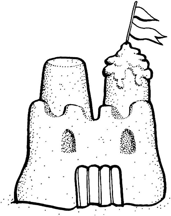 Sand Castle Drawing Clipart Best Sandcastle Coloring Page