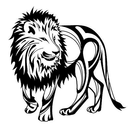 tribal lion tattoos clipart best