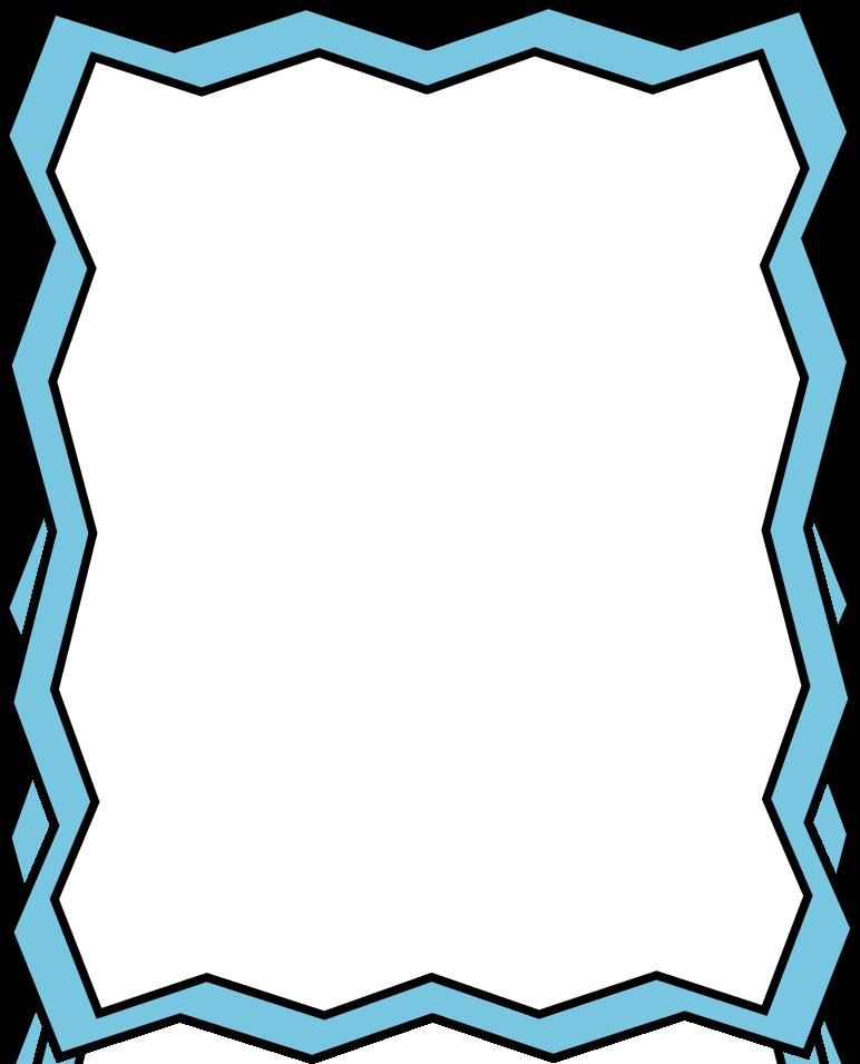 Blue Page Border - ClipArt Best