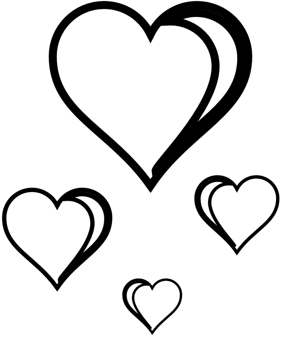 Clip Art Line Of Hearts : Line drawing heart clipart best