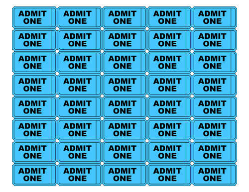 Free Printable Admit One Ticket Template ClipArt Best – Ticket Admit One Template