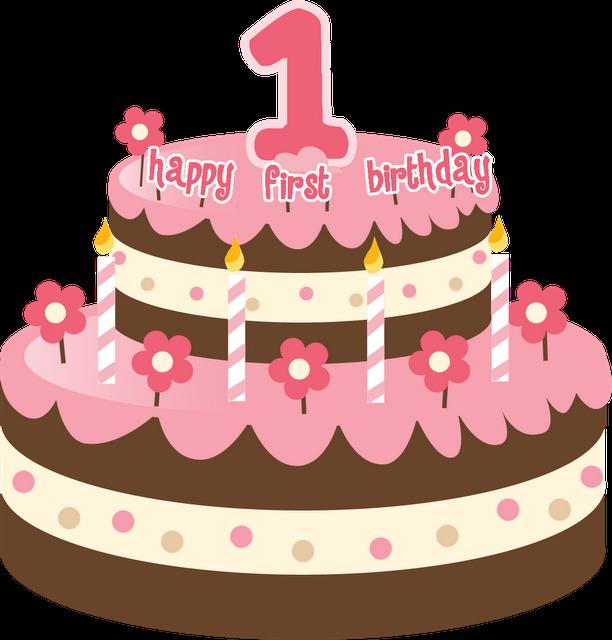1st Birthday Cake Clip Art Clipart Best