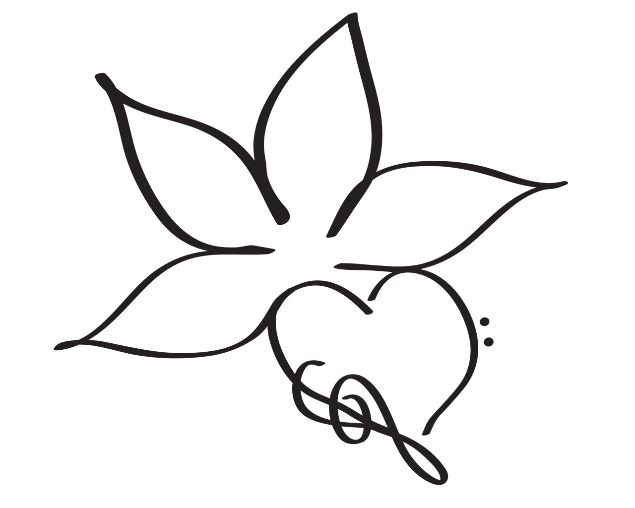 Simple Flower Drawings - ClipArt Best