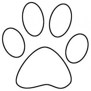 Best Photos of Free Printable Dog Paw Print - Dog Paw Print ...